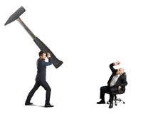 Stressed businessman and senior boss Stock Photo