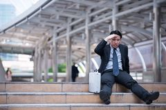 Stressed businessman Stock Photos
