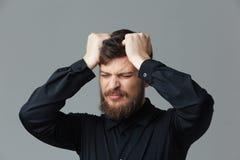 Stressed businessman Royalty Free Stock Photos