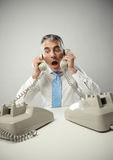 Stressed businessman Stock Image