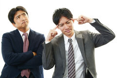 Stressed businessmen Stock Photography