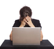 Stressed businesswoman Stock Photos