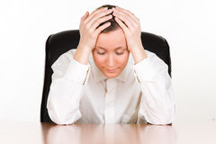 Free Stressed Businesswoman Stock Photography - 13640442