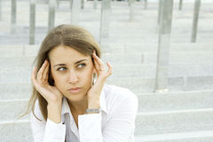 Stressed Businesswoman Royalty Free Stock Photo