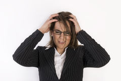 Stressed businesswoman. Stock Photography
