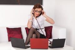Stressed Businesswoman Royalty Free Stock Photos