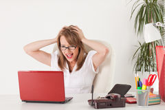 Stressed businesswoman Stock Images