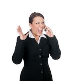 Stressed businesswoman Stock Image