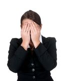 Stressed businesswoman Stock Photography
