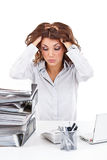Stressed businesswoman Royalty Free Stock Images