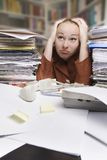Stressed businesswoman Royalty Free Stock Photography