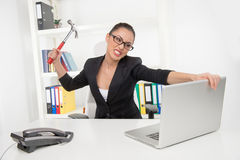 Stressed businesswoman. Royalty Free Stock Image