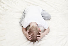 Stressed child. Desperation and stress Royalty Free Stock Photography