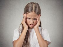 Stressed child, teenager gir Stock Photos
