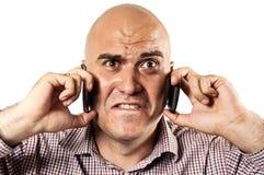 Stressed communication Stock Photos