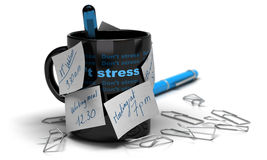 Stressed concept - workplace stress Stock Image
