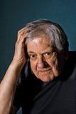 Stressed/Confused senior man Stock Image