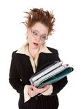 Stressed crazy Businesswoman Stock Photos