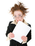 Stressed crazy Businesswoman Stock Image