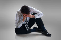 Stressed disappointed businessman Royalty Free Stock Images