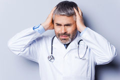 Stressed doctor. Stock Photos
