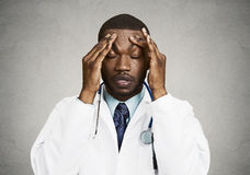 Stressed doctor, health care professional Royalty Free Stock Images
