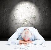 Stressed employee Royalty Free Stock Image