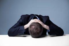 Stressed employee Stock Image