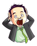 Stressed Employee. Ilustrator design .eps 10 Stock Images