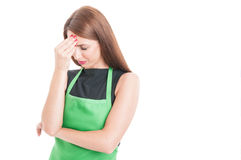 Stressed employee suffering from head ache Stock Photography