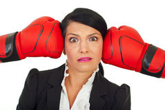 Stressed executive under pressure Royalty Free Stock Photo