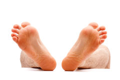 Stressed feet Stock Photos