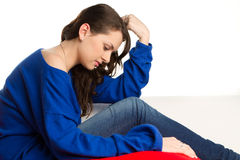 Stressed female teenager Stock Photos