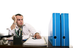Stressed & frustrated businessman Stock Image
