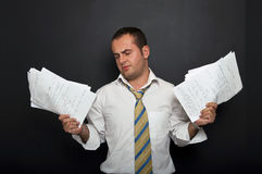 Stressed and frustrated businessman Royalty Free Stock Photo