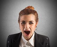 Stressed and frustrated businesswoman Stock Images