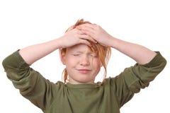 Stressed girl Royalty Free Stock Photos