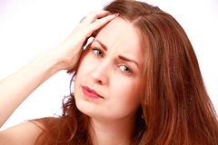 Stressed girl Royalty Free Stock Photography