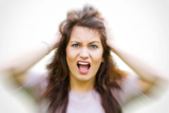 Stressed girl Royalty Free Stock Images