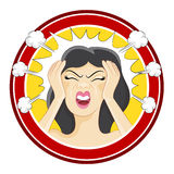 Stressed Girl. An image of a stressed girl Royalty Free Stock Images