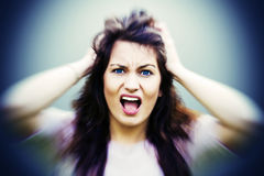 Stressed girl Royalty Free Stock Image