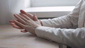Stressed hand actions stock footage