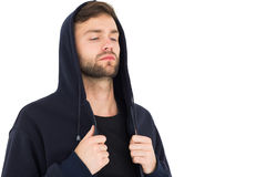 Stressed handsome young man with eyes closed Royalty Free Stock Image