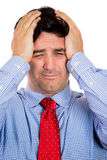 Stressed with headache Stock Images