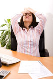 Stressed with her work Stock Image