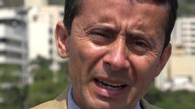 Stressed Hispanic Man Stock Photo