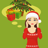 Stressed holiday woman Stock Photography
