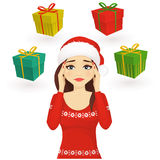 Stressed holiday woman Royalty Free Stock Image