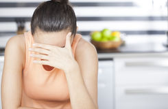 Stressed housewife Stock Photography