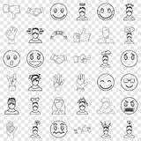 Stressed icons set, outline style. Stressed icons set. Outline style of 36 stressed vector icons for web for any design vector illustration
